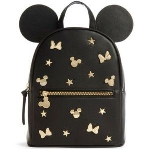 Disney X Mickey Mouse ears Gold studs backpack